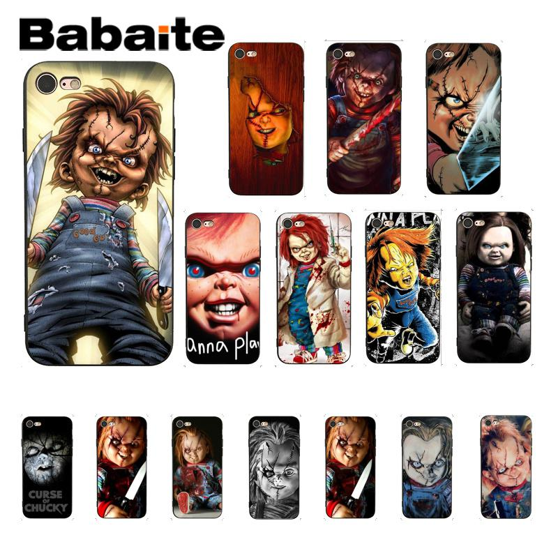 Babaite CHUCKY HORROR CHURSE OF CHUCKY CHILDS PLAY MOVIE Cute Phone Case for iPhone 6S 6plus 7 7plus 8 8Plus X Xs MAX 5 5S XR