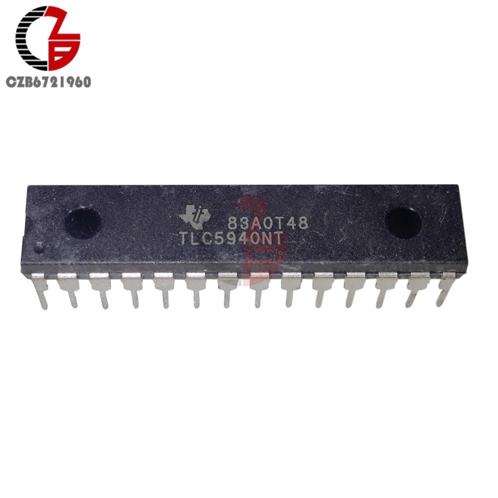 5pcs Tlc5940nt Tlc5940 Dip 28 Ti Led Driver Ic A876 Circuit For