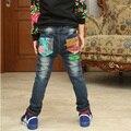 De alta qualidade crianças calças de brim 2016 primavera/outono novas crianças Coreanas calças de brim miúdos grandes meninos de jeans plus size venda quente