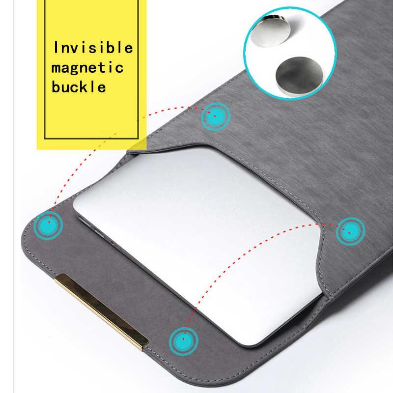 Pu Leer Vrouwen Mannen 11 12 14 15 Matte Mouw Laptop Tas 15.6 Voor Macbook Air 13 Case Voor Xiaomi samsung Lenovo Notebook Cover