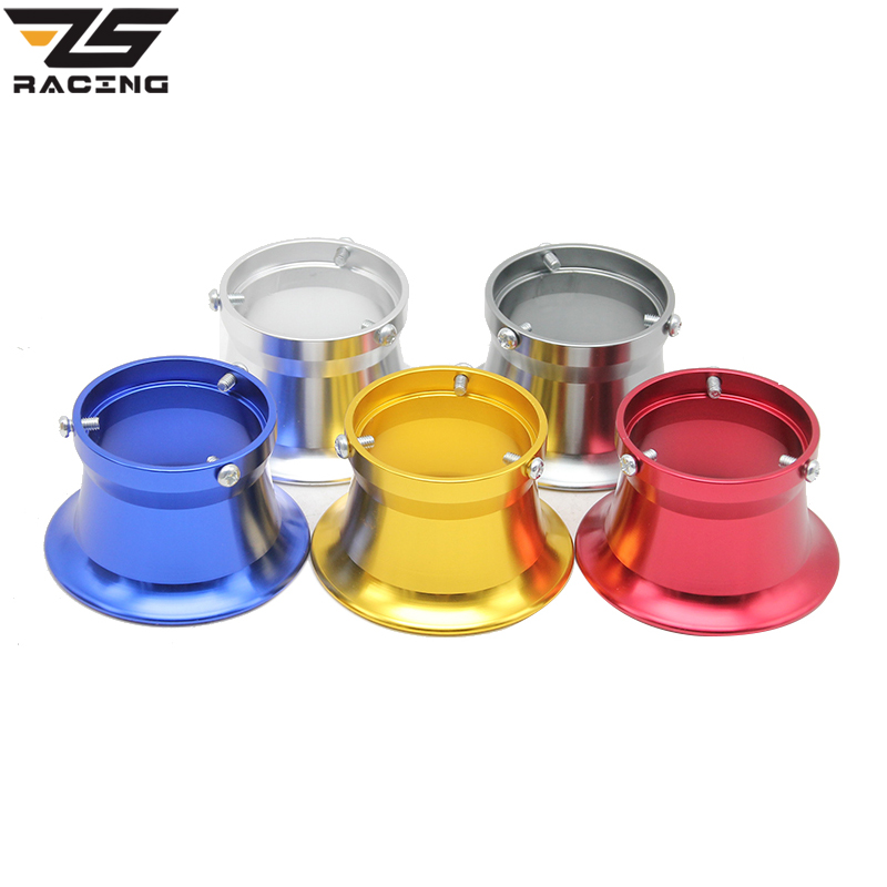 Coupe de filtre à air de carburateur modifié pour moto ZS Racing 50mm Coupe vent Coupe corne Coupe Fit Keihin OKO KOSO PEK24 / 26/28/30 CVK28 / 30