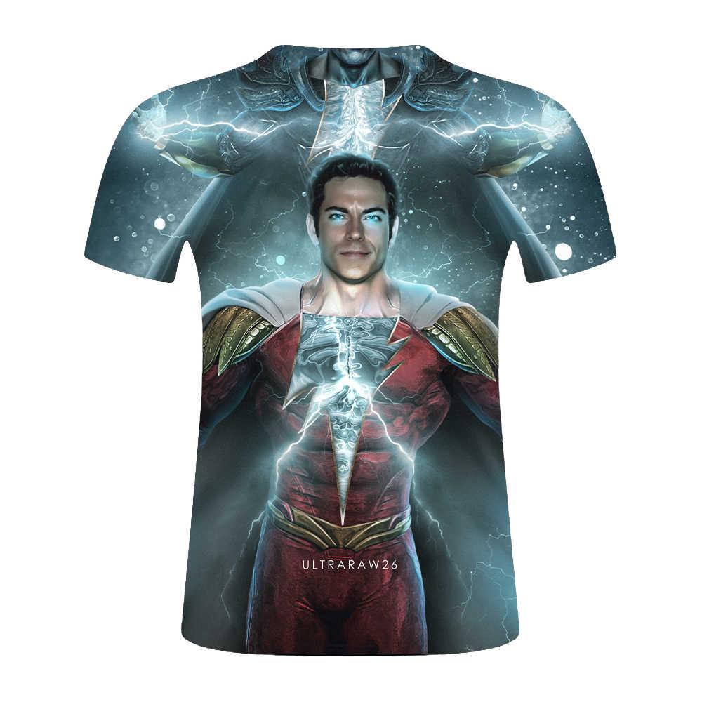 Kebugaran MMA Kompresi Kemeja Pria Anime Binaraga Avengers 4 Lengan CrossFit 3D Superman Marvel T Shirt Tops Tees