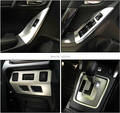 Auto interior moulding, inner air vent door handle trim for  Forester 2013-2015 , ABS chrom,16pcs/set.