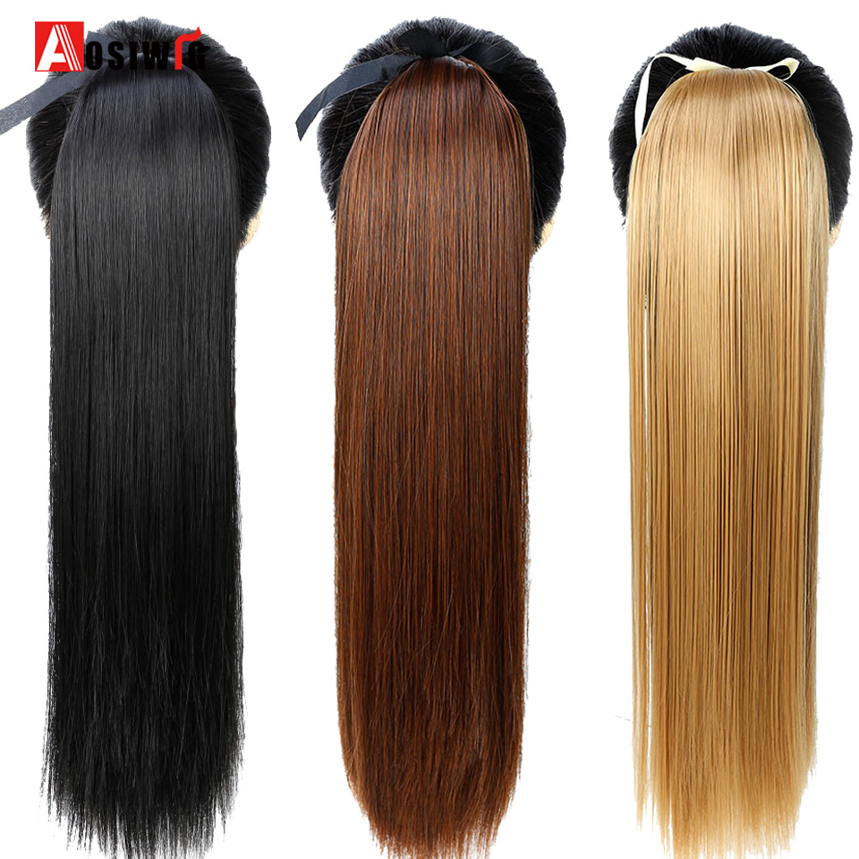 AOSIWIG Hairpiece Pony Tails Synthetic Tress Of Hair 22