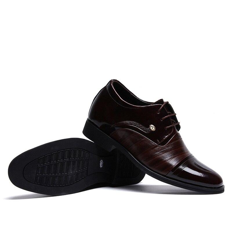 2017 Hombres Para 7 Moda Boda Estilo Oxford Black Cm Aumentar De Cuero Británico Heighten brown Zapatos UrdCqUw