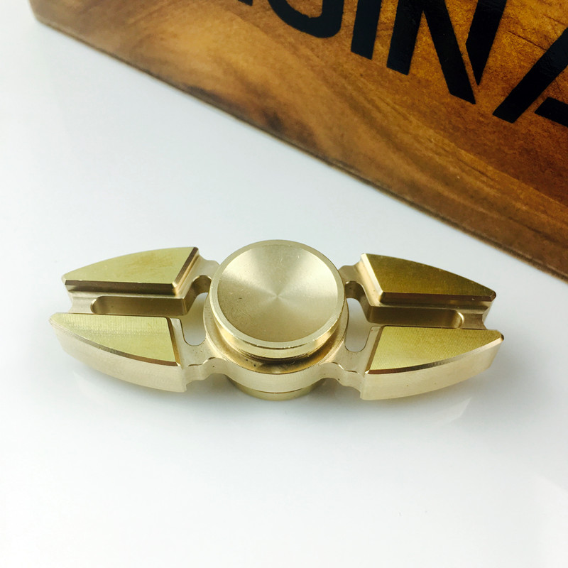 2017 new Copper EDC hand spinner metal top fidget tri spinner toy to anti stress sensory for Autism and ADHD