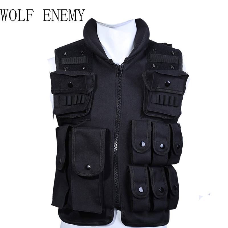 Hot Sale Tactical Vest Cool Mens Hunting Vest Outdoor Black Training Military Army Swat Vests Men Waistcoat Protective Equipment