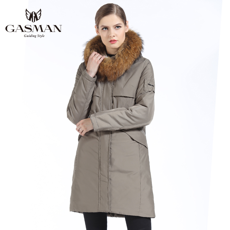 GASMAN 2019 ใหม่ฤดูหนาวผู้หญิง Parka Hooded Warm แจ็คเก็ตผู้หญิง Parka เสื้อโค้ทฤดูหนาวธรรมชาติขนสัตว์ raccoon-ใน เสื้อกันลม จาก เสื้อผ้าสตรี บน   3