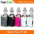 Cigarrillo electrónico kit con 75 w istick eleaf istick pico completo pico tc caja Vape Mod y MELO III 3 Mini Tanque SIN Batería 18650