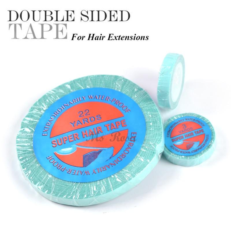 Supertape Adhesive Tape För Hair Paryk Lim 0.8cm x 22 Yard Dubbelsidig Super Tape För Paryk Och Toupee Snörning Front Support Tape