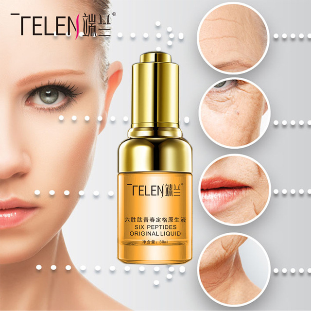 TELEN Six peptide youth freeze against ageing lift firming native liquid anti-wrinkle skin relaxation Face Care Cream Serum 30ml