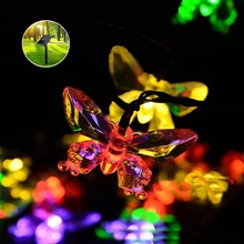 Outdoor Solar String Lights 20 Dragonflies Butterflys Fairy Lighting For  Christmas Trees,Garden,Wedding,Party Holiday Decoration
