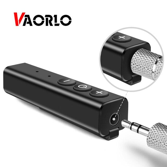 Bluetooth מקלט אודיו 4.1 סטריאו דיבורית לרכב משדר אלחוטי מתאם A2DP AUX 3.5mm מוסיקה מקלטים עבור אוזניות