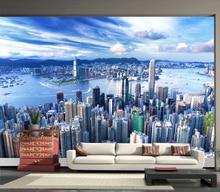 Custom photo wallpaper modern city landscape architecture mural TV  background wall mural wallpaper living room bedroom wallpaper