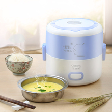 Portable Rice Cooker Heated lunch box cuiseur vapeur electrique mini food warming box stainless steel kitchen Multi-steaming 220 dmwd 1 2l mini electric cooker food heater heat preservation portable lunch box rice cooker simple steaming boiling stewing 220v