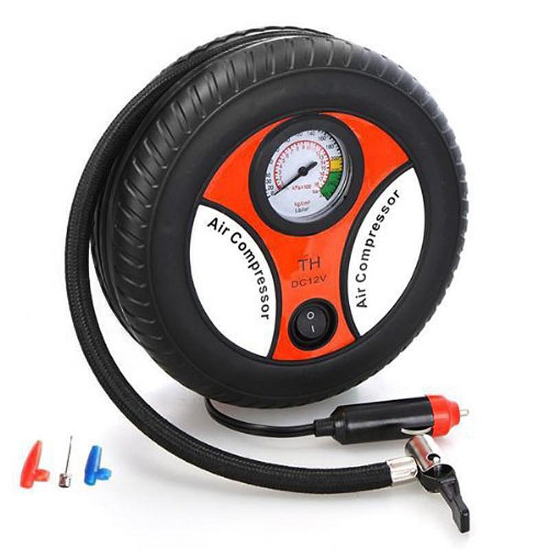 Hot Mini Portable Car Air Compressor 12v Auto Inflatable Pumps Electric Tire Inflaters JLD