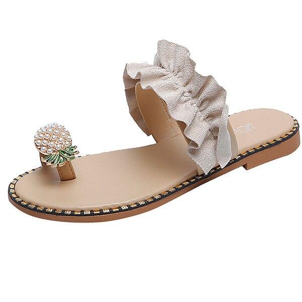 Women flip flop pineapple sandal for summer days 8