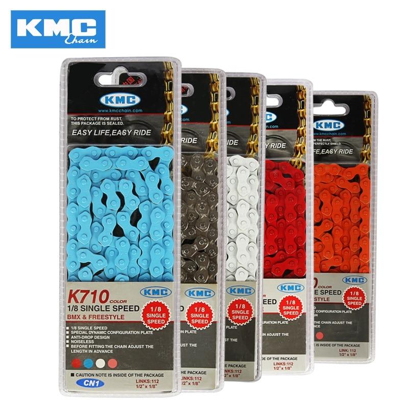 "KMC Z410 Chain Silver 1//8/"" Track Fixed Gear Single Speed BMX 1-Speed Bike"