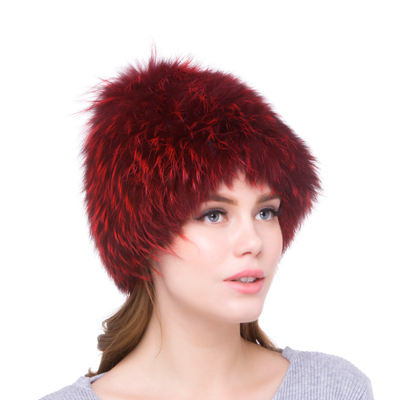 Women s autumn and winter section hat warm charm natural fox hat real fox fur hat