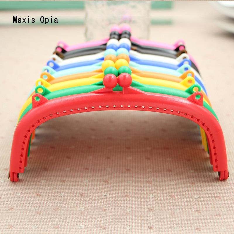 15 Cm Candy Colorful Plastic Resin Purse Frame Sewing Purse Handle Dropshipping Bag Parts DIY Handbag Accessories Purse Frames