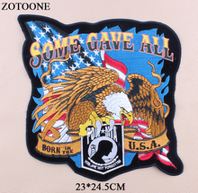 ZOTOONE Motorcycle Patches Letter Rock Punk Patch Big Eagle Stickers Clothes Appliques Sequined T-shirt DIY Clothing Jacket E