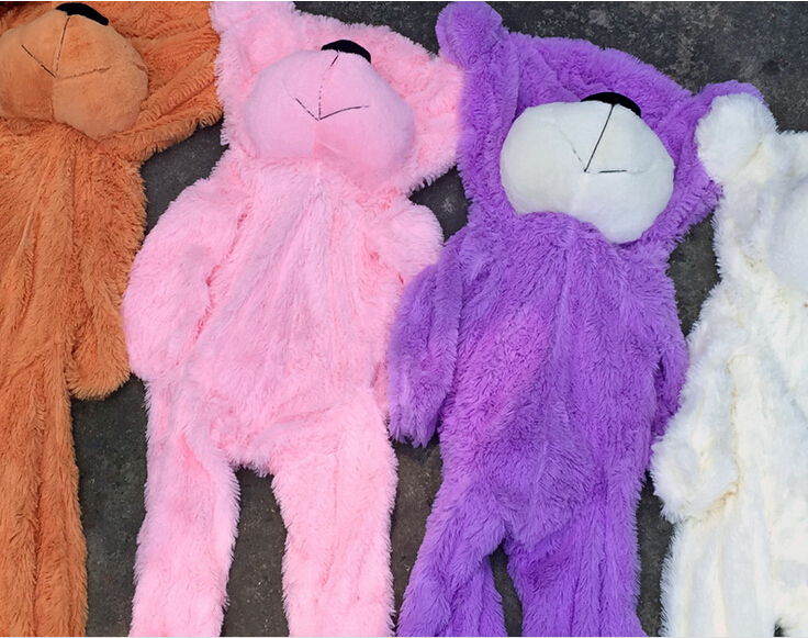 ems free shipping 10pcs lot 140cm 5colors wholesale plush toy giant unstuffed teddy bear skins. Black Bedroom Furniture Sets. Home Design Ideas