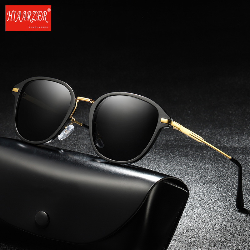 Men Women High Quality Polarized Sunglasses Male Female Driving Metal Sun Glasses Goggle UV400 Eyewear Oculos de sol With Case in Men 39 s Sunglasses from Apparel Accessories
