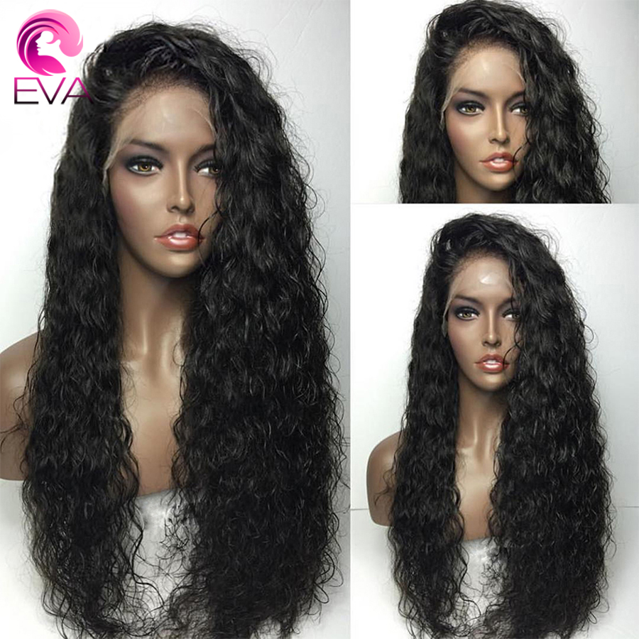 Eva Hair Water Wave Full Lace Human Hair Wigs With Baby Hair Pre Plucked Hairline Brazilian