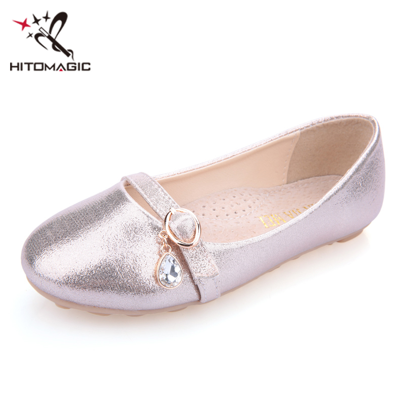 HITOMAGIC 2018 Girls Shoes Leather Princess Children Shoes Girls For Wedding Party Spring Summer Footwear Brand Kids Crystal