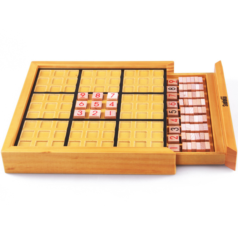 LeadingStar Wooden Sudoku Game Board Educational Children Math Toy