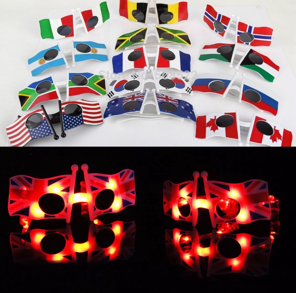 963544a9883 14.5 10 3cm LED flag glasses Cool American Flag Sunglasses USA Patriotic  Design for 4th of July Party Props -in Glow Party Supplies from Home    Garden on ...