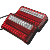 2 x 20 LED Taillights Car Truck Trailer Brakes Rear Tail Indicator Light (Red, Yellow)