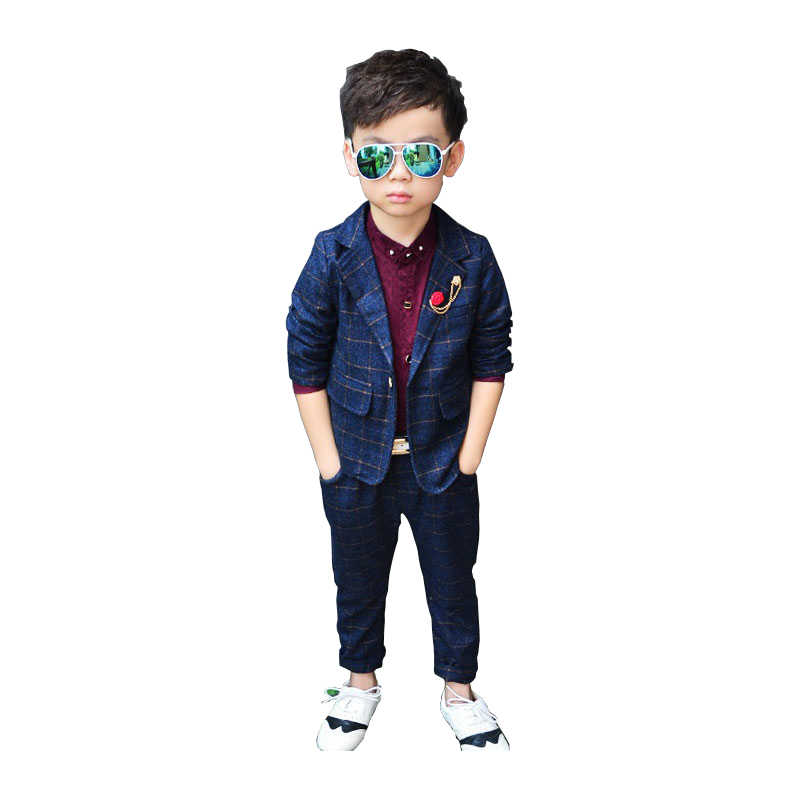 920bde2272b3 Detail Feedback Questions about ActhInK New Design Boys 2Pcs Plaid ...