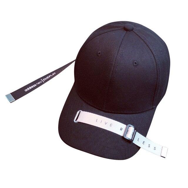 Black White Letter Embroidery Cotton Baseball Cap For Women Snapback Hip Hop Hats Female Male Gorras Para Hombre Beisbol *117