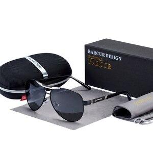Image 2 - BARCUR degli uomini Occhiali Da Sole Polarizzati UV400 Protezione di Viaggio di Guida Maschio Occhiali da sole Eyewear Oculos Accessori Maschili Per Gli Uomini