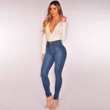YOUYEDIAN plus size Stretch Jeans female washed denim skinny pencil pantsJeans for Women Jeans with High Waist Jeans#j45