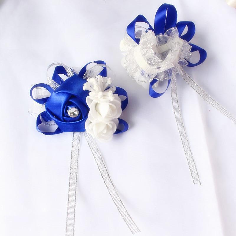 wrist corsage bracelet bridal wedding flowers Bridesmaid (129)