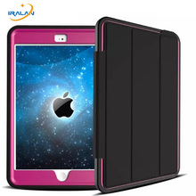 2018 New Luxury For Apple iPad Mini 1 2 3 Cover Armor Defender Heavy Duty Rugged Three Layer Smart Protective Case + Stylus+film