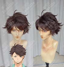 Haikyuu!! Volleyball Toru Oikawa Toor Short Brown Shaggy Layered Tooru Heat Resistant Cosplay Costume Wig