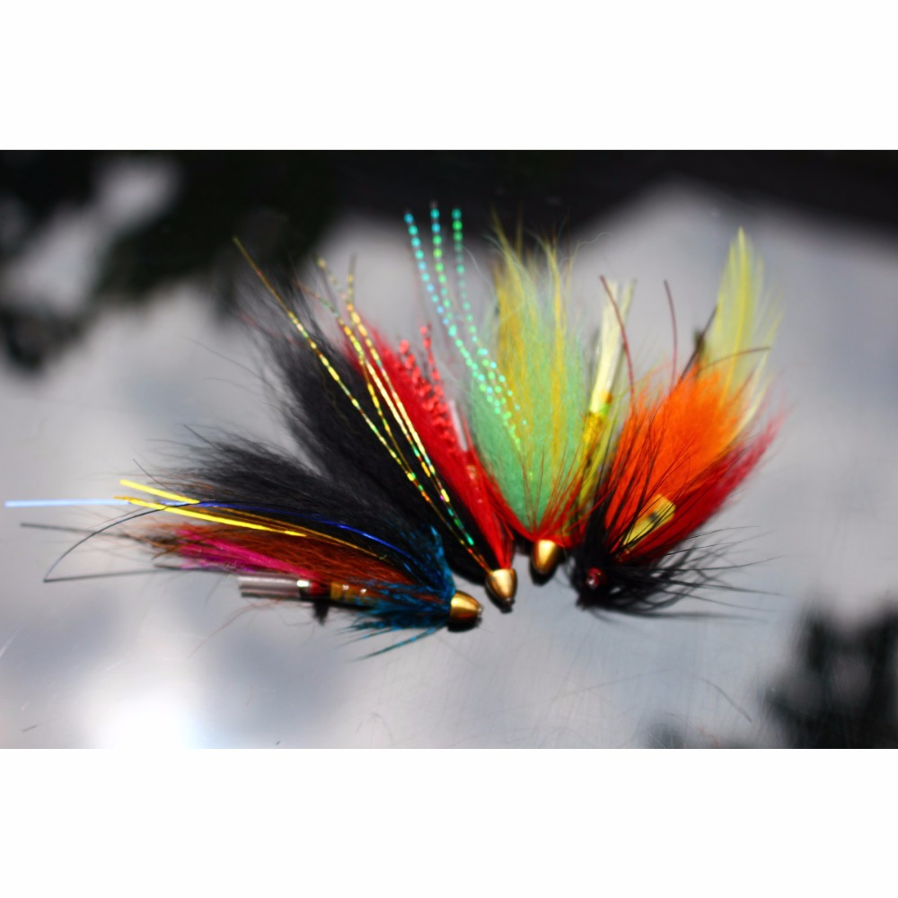 12 pcs Assorted Tube Fly Set Fly Fishing Flies Lures Salmon Flies Trout Fly