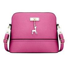 2017 Для женщин Курьерские сумки выдалбливают Bolsa feminina Bolso Mujer мини-сумка с оленями игрушка Сумки через плечо для Для женщин ведро Сумки