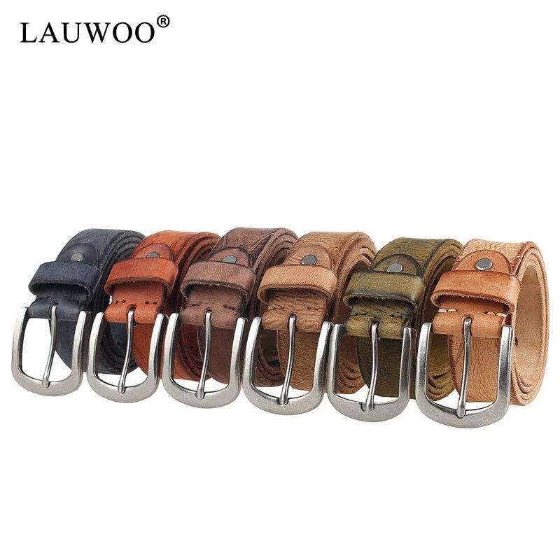 Luxury Designer Male Belt Men High Quality Real Cowhide Full Grain Genuine Leather Belts Camel Cowboy 3.8 Cm Masculine Soft Men's Belts