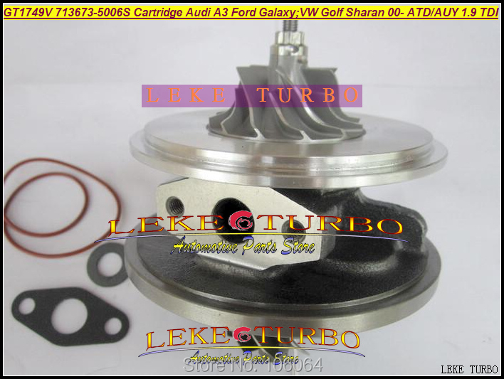 TURBO Cartridge CHRA 713673-5006S 713673 Turbocharger For Audi A3 For Ford Galaxy VW Golf Sharan;Octavia I 1.9L 2000-06 ATD AUY turbo chra turbocharger core gt1749v 713673 5006s 454232 5011s for vw sharan bora golf iv skoda octavia i fabia 1 9 tdi
