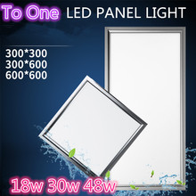 AC90-260V ultra thin flat led panel light 600×600 300×300 1200×300 1200×600 300×600 60×120 18W 30W 48W office down light
