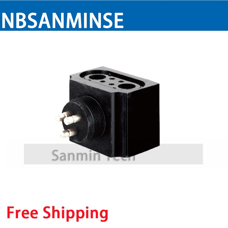 ABSM Automobile Valve Series Coil Electrical Solenoid Valve Coil DC12V Voltage Contact Pin Type Valve Coil Sanmin new lp2k series contactor lp2k06015 lp2k06015md lp2 k06015md 220v dc