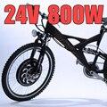 E-bici de 24 V 800 W hub Motor con Frenos de Disco de Bicicleta Eléctrica Kit de conversión de Ebike delantero o trasero rueda de nuevos Detalles sobre