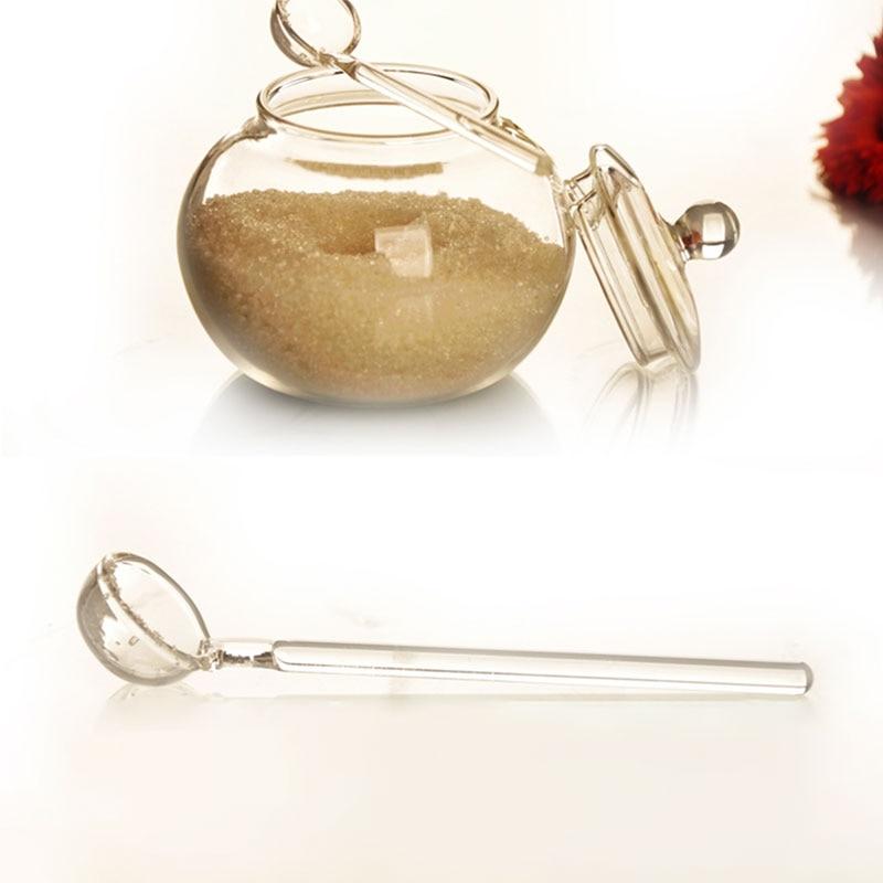 SOLEDI 250ml Glass Jar Candy Home Cooking Sugar Bowl Saleros De Cocina Azucarero With Spoon
