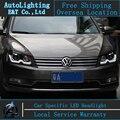 Estilo do carro Lâmpada de Cabeça para VW Passat B7 levou faróis 2011-2014 Europa Versão Passat drl H7 escondeu Lente Bi-Xenon baixo feixe