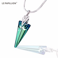 LEPAPILLION Women Necklace Fine Jewelry Interesting Spike Triangle Crystal Pendant Necklace Choker Collares Jewelry Gift Female