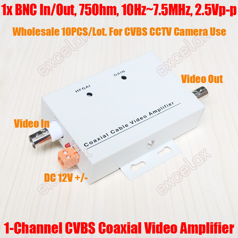 10PCS Lot 1 Channel In Out Analog CVBS BNC Coaxial Cable Video Signal Amplifier Extender 1CH